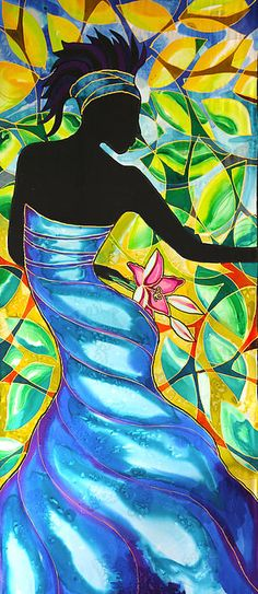 Vanessa's Blue Dress In Belize Canvas Print / Canvas Art by Lee Vanderwalker
