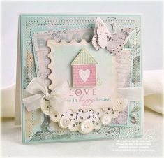 Beautiful card by Debbie Olson. Love all the layers.
