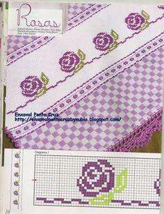 digitalizar0050.jpg (1228×1600) Cross Stitch Boarders, Cross Stitch Patterns, Cross Stitch Rose, Cross Stitch Designs, Cross Stitch Charts, Cross Stitching, Sewing Station, Loom Beading, Embroidery Stitches