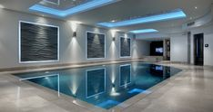 Striking indoor pool by Portrait Pools