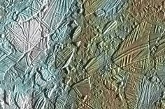 More of Europa's scarred surface.