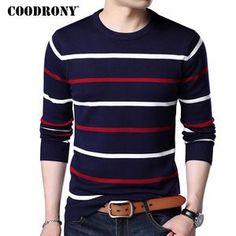 Coodrony O-Neck Pullover Men Brand Clothing 2017 Autumn Winter Cashmere Wool Sweater Men Casual Cashmere Wool, Cashmere Sweaters, Pullover Sweaters, Men Sweater, Wool Sweaters, Men With Street Style, Camisa Polo, Mens Jumpers, Knitwear