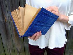 Big River Song's Journal, Tardis Journal, large diary,  big notebook, journal diary,  blank book, old paper, 9x6inch by Patiak on Etsy https://www.etsy.com/listing/161284660/big-river-songs-journal-tardis-journal