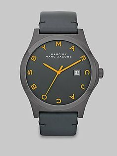 Marc by Marc Jacobs MBM1216 Henry Leather Strap Watch Marc by Marc Jacobs. $138.00. Water resistant to 50 meters. Quartz movement
