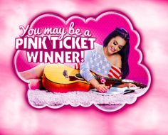 "Are you a PINK TICKET winner?! Pre-order your copy of ""Katy Perry: Part of Me"" to find out! www.KatyPerryPinkTicket.com"