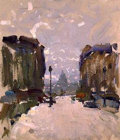 The view of Sorbonne - Bato Dugarzhapov , 2006 Russian, b.1966- Oil on canvas on cardboard, 35 x 30 cm