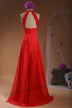Simples elegante vestido de Chiffon longo vestido 2015 Real vestido longo festa LG410