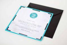 Stop & Dream   Invitación de boda · Wedding card: Typewriter