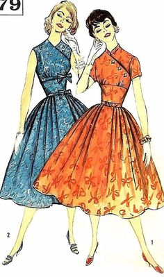 Your place to buy and sell all things handmade Vintage Dress Patterns, Dress Sewing Patterns, Vintage Dresses, Vintage Outfits, Barbie Vintage, Vintage Fashion 1950s, Retro Fashion, Patron Vintage, Moda Vintage