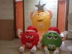 Gemmy Prototype Airblown Inflatable Christmas M M Trio Tree 81194 Christmas Blow Up, Outdoor Christmas, Christmas Wedding, Christmas Decorations, Christmas Ornaments, Holiday Decor, M&m Characters, Christmas Inflatables, Baby Items