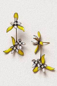 enameled flower earrings.....wow I guess I do like these. Price ....$158.00.