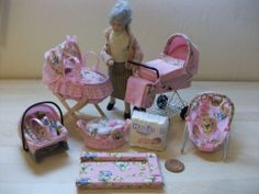 b'ful 7 piece nursery set2 *for your own precious little ooak* 1/12, dolls house