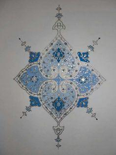 × – tezhip ve hüsnühat - Malvorlagen Mandala Turkish Design, Arabic Design, Turkish Art, Arabic Art, Islamic Motifs, Islamic Art Pattern, Arabic Pattern, Pattern Texture, Pattern Art