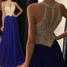 Charming Prom Dress,Elegant A Line Beads Prom Dresses,Long