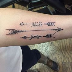 arrow tattoos with names - Google Search