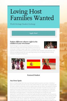 Loving Host Families Wanted