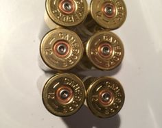 20 off White Gold 12 Gauge Shotgun Shells by EjectedBrass on Etsy