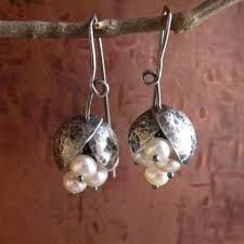 Image result for silver seed pot earrings