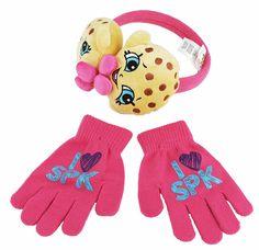 4012 Shopkins Girls Hot Pink Hat and Gloves Set