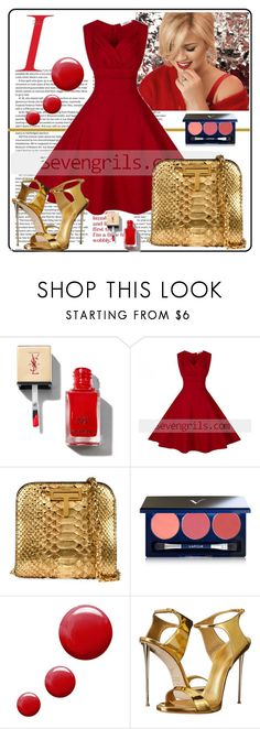 """""""Seven grils 11"""" by difen ❤ liked on Polyvore featuring Vapour, Topshop, Giuseppe Zanotti and vintage"""