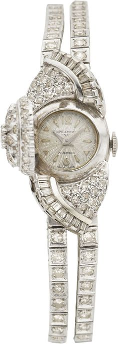 BAUME & MERCIER LADY'S DIAMOND, WHITE GOLD WRISTWATCH. Property | Lot #87428 | Heritage Auctions