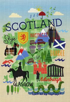 Map of Scotland.. Maybe this will come in handy when I plan a trip to see Lauren!!