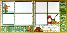 My June Kit of the Month is ready for you to add your family adventure photos to. This kit uses the ctmh Fresh Air papers, a Flip-Flap, and various Cricut cuts to create a scrapbook page for recording your memories. Kits & Guides are available for purchase on my website. #ctmh #ctmhfreshair #scrapbooking #campingscrapbooklayout #hikingscrapbooklayout #outdooradventuresscrapbooklayout #camping #hiking #misscarriescreations