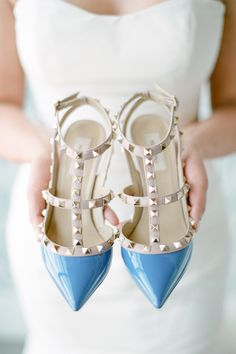 Blue studded Valentino stilettos: http://www.stylemepretty.com/little-black-book-blog/2016/10/19/spring-brooklyn-wedding-filled-with-cherry-blossoms/ Photography: Brklyn View - http://www.brklynview.com/ Shoes: http://fave.co/2ezJGam
