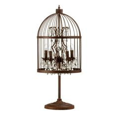 Pin By Samantha Ek On Lighting Birdcage Lamp Table Lamp Table