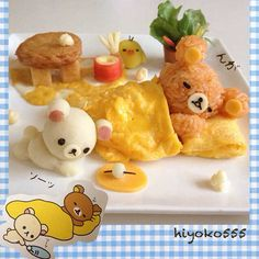 Rilakkuma omelet - Breakfast for children. Just Too cute but who in the world would have time to make this??