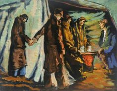Here's Watchman's Fire(Night Shelter) by Albert Turpin @DoncasterMuseum pic.twitter.com/VFjVL0ZCNu