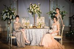 We loved creating this Reverie Gallery luxury glam wedding inspiration shoot at Aria in Connecticut, photographed by Danny Kash Photography. Luxury Wedding, Dream Wedding, Bridesmaid Dresses, Wedding Dresses, Wedding Blog, Wedding Inspiration, Winter Weddings, Table Decorations, Gallery