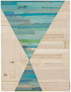 The latest collage series by Lisa Hochstein, Missing Pieces, the shapes seem to echo the turbines and the torn papers reminded me of wind's inherent power.