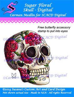 Sugar Floral Skull Digital