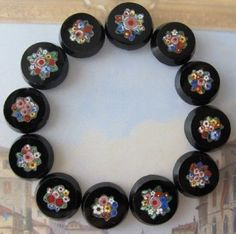 Micromosaic tiles for bracelet or necklace...