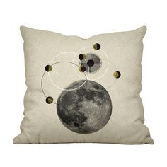 Lunar Phases Throw Pillow