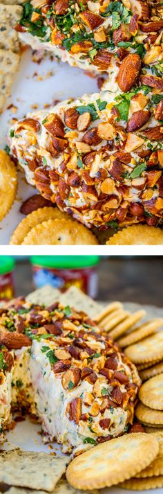 Asian Cheese Ball with Sriracha Almonds from The Food Charlatan // perfect poolside  snack! SO easy.