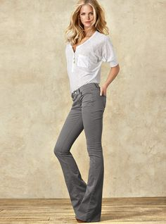 VS Kitten Flare Pant in Stretch Twill - Victoria's Secret