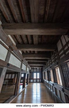 Inside the watch tower in Himeji castle - Stock Image Fly Around The World, Around The Worlds, Himeji Castle, Japanese Castle, Asian Architecture, Asian Garden, Japanese History, Old Buildings, Stairs