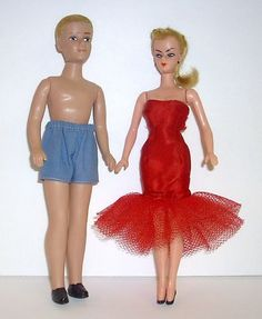 "7.5"" Barbie & Ken clones by Marx - 1960s"