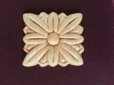 Set of 4 Wood Appliques/ Craft Appliques/ Flower by WoodesignShop