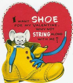 """""""I want SHOE for my #Valentine!"""" #vintage"""