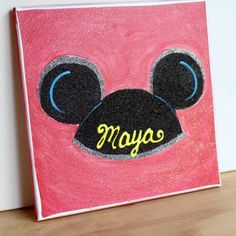 Mickey Ears Pop Art Leinwand - Disney Crafts and Scrapbook ideas - Disney Diy, Disney Crafts, Disney Theme, Disney Ideas, Disney Canvas Paintings, Disney Canvas Art, Roommate Gifts, Glitter Canvas, Diy Canvas