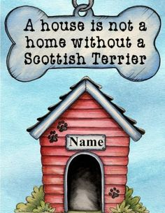 Scottie Scottish Terrier Dog Magnet A House Is not A Home Personalized | eBay