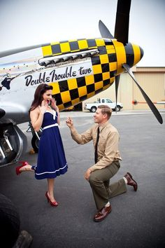 Engagement/Save the Date Photo Shoot...plane show coming in soon Laura?