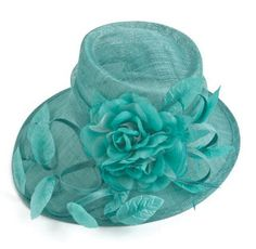 Flowers and Leaves Sinamay Hat in Mint, $51.99