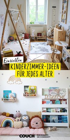 Kinderzimmer Ideen für Wohlfühl-Buden: So geht's! From baby to teen, from small to large: Here you w Hall Design, Large Furniture, Kid Beds, Sofa Set, Baby Room, Storage Spaces, Kids Room, Bedroom Decor, Decoration