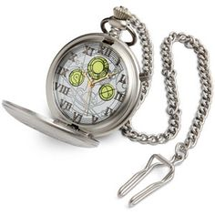 """Time and time and time again, always running out on me.""  Authentic replica from Doctor Who TV series  Watch has nightlight feature and waistcoat chain  May possibly contain the memories of a Time Lord  $49.99"