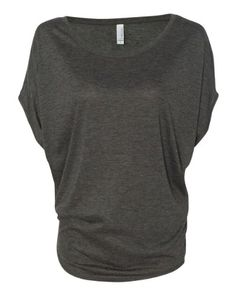 Bella+Canvas Women's Flowy Circle Top, Athletic Heather, X-Large $11.62 (save $18.13)  #Bella