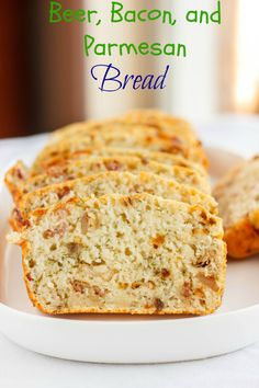 Beer, bacon, and Parmesan bread! No yeast required!